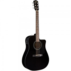 FENDER CD-60CE DREADNOUGHT BLACK  W/FISHMAN MINIQ
