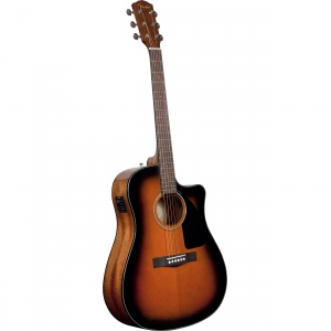 FENDER CD-60CE DREADNOUGHT BROWN SUNBURST W/FISHMAN MINIQ PREAMP гитара