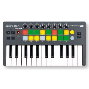 Novation LaunchKey Mini Инструмент/контроллер для iPad, Mac и PC. 25-клавишная мини-клавиатура