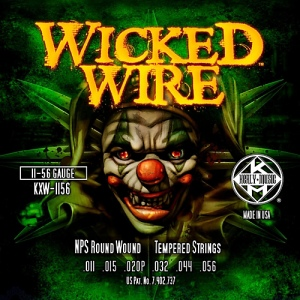 KERLY KXW-1156 Wicked Wire NPS Roundwound Tempered струны для электрогитары, 11-56.