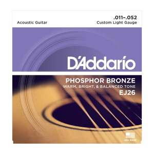 D`ADDARIO EJ26 фосфор\бронза, Custom Light 11-52