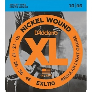 D`ADDARIO EXL110XL NICKEL WOUND струны для электрогитары Regular Light 10-46