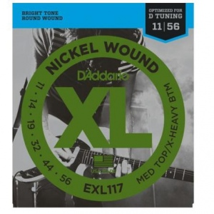 D`ADDARIO EXL117XL NICKEL WOUND струны для электрогитары 11-56