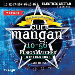 CURT MANGAN 10-56 Nickel Wound (7-String) Set струны для электрогитары