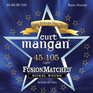 CURT MANGAN 45-105 Nickel Wound Light Bass Set струны для бас-гитары
