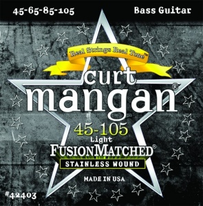 CURT MANGAN 45-105 Stainless Wound Light Set струны для басгитары