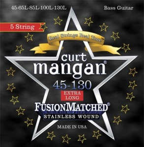 CURT MANGAN 45-130 Stainless Wound 5-String Set струны для бас-гитары