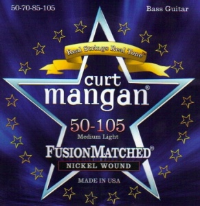CURT MANGAN 50-105 Nickel Wound Medium light Set струны для бас-гитары