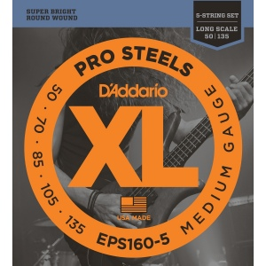 D`ADDARIO EPS160 ProSteels Комплект струн для бас-гитары, Medium, 50-105, Long Scale