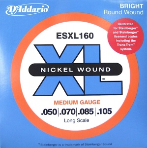 D`ADDARIO ESXL160 Nickel Wound Комплект струн для бас-гитары, Medium, 50-105, шарик на 2 концах