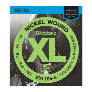 D`ADDARIO EXL165 XL NICKEL WOUND Струны для бас-гитары