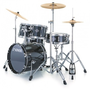 Sonor 17206310 SFX 11 Stage 2 Set WM NC 11229 Smart Force Xtend Барабанная установка, черная, б/тар